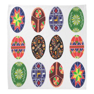 Ukrainian pysanky easter eggs  pattern bandana