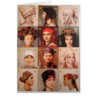 Ukrainian Stamps Card