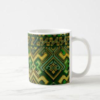 Ukrainian Style Cross Stitch Pattern Mug