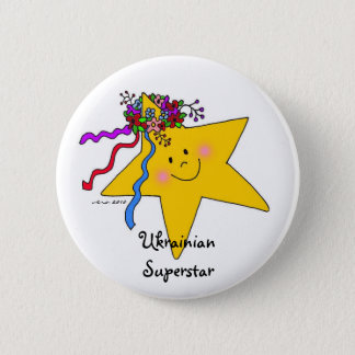 Ukrainian Superstar 2 Inch Round Button
