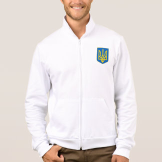 Ukrainian Trident Shield Men's Fleece Jacket