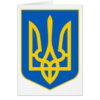 Ukrainian Tryzub Card
