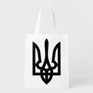 Ukrainian Tryzub Single-Sided Reusable Grocery Bag
