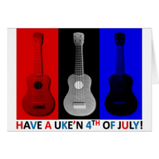 Ukulele 4th of July Card