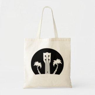 Ukulele and Palm Trees Tote Bag
