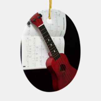 Ukulele and Songbook Ceramic Ornament