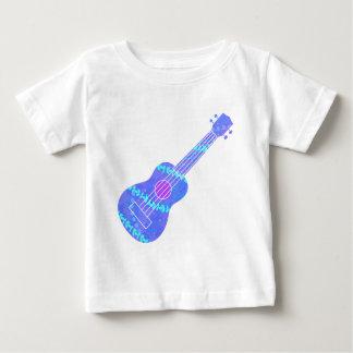 Ukulele Blue Paint Spatter Baby T-Shirt