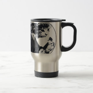 Ukulele Cat round Travel Mug
