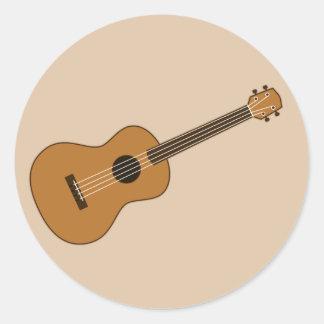 Ukulele Classic Round Sticker