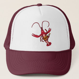Ukulele Crawfish Trucker Hat