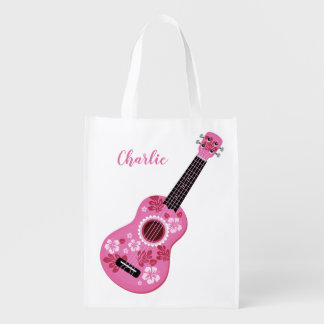 Ukulele custom name reusable bag