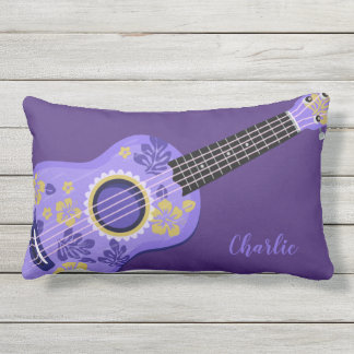 Ukulele custom name throw pillows