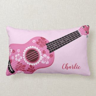 Ukulele custom name throw pillows