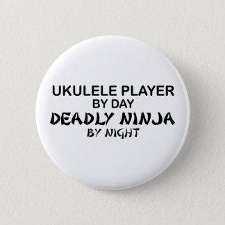 Ukulele Deadly Ninja by Night 2 Inch Round Button