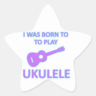 Ukulele Designs Star Sticker