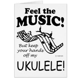Ukulele Feel The Music Card