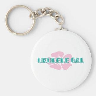 Ukulele Gal Keychain
