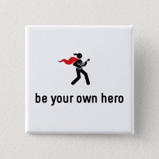 Ukulele Hero 2 Inch Square Button
