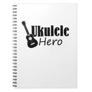 Ukulele Hero Ukulele Uke Music Lover Gifts Player Notebooks