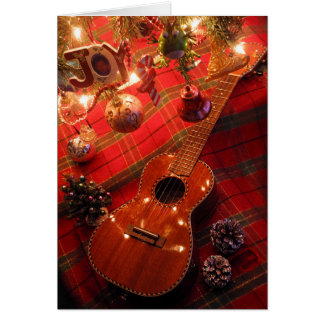 Ukulele Holiday Card