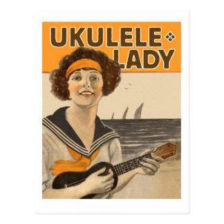 Ukulele Lady #2 Postcard