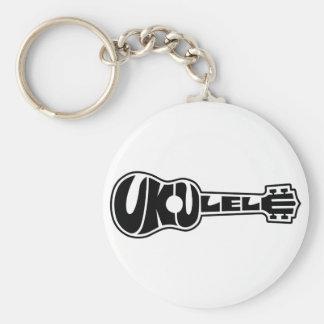 Ukulele Logo Keychain