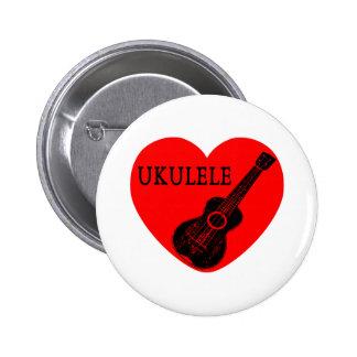 Ukulele Love 2 Inch Round Button