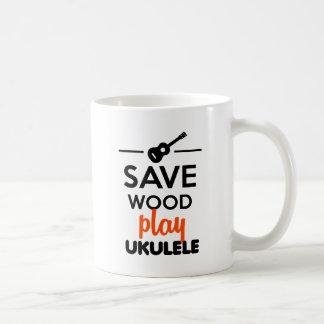 Ukulele Musical Instrument - Save Wood play ukulel Mug