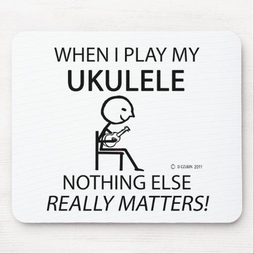 Ukulele Nothing Else Matters Mousepads