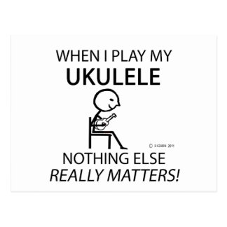 Ukulele Nothing Else Matters Postcards