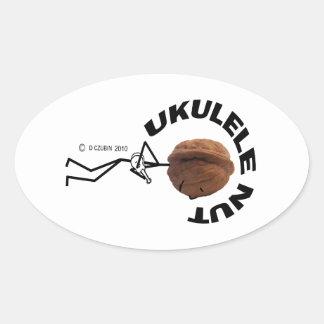 Ukulele Nut Oval Sticker