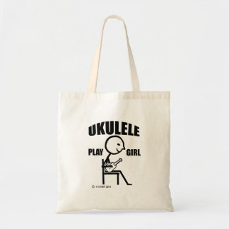 Ukulele Play Girl Tote Bag