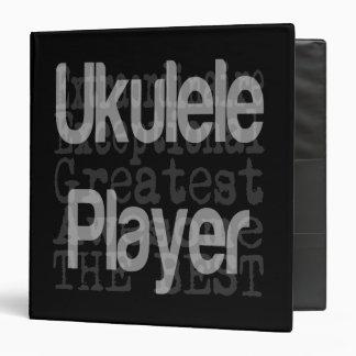 Ukulele Player Extraordinaire Vinyl Binder