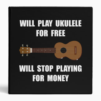 Ukulele Playing Vinyl Binders