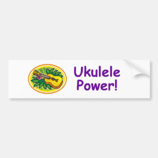 Ukulele Power! Bumper Sticker