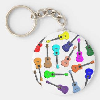 Ukulele Rainbow Keychain