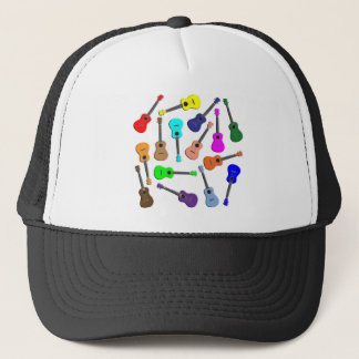 Ukulele Rainbow Trucker Hat