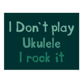 Ukulele Rock It Postcard