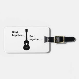 Ukulele Start Together... Luggage Tag
