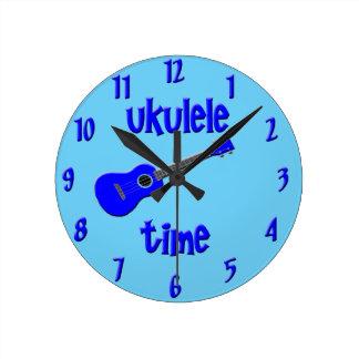 Ukulele Time Round Clock