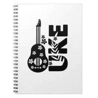 Ukulele Uke Music Lover Gift Funny Notebooks
