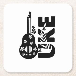 Ukulele Uke Music Lover Gift Funny Square Paper Coaster