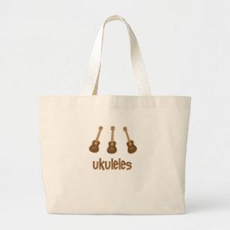 ukuleles large tote bag