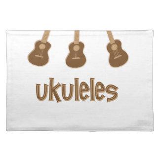 ukuleles placemat