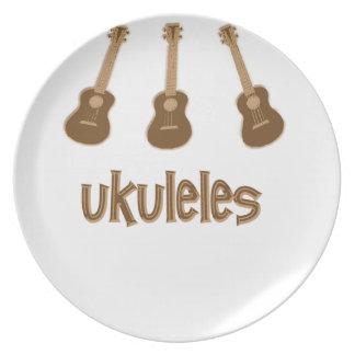 ukuleles plate