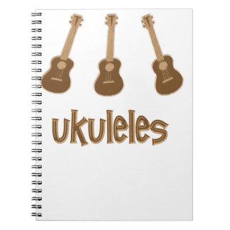 ukuleles spiral notebook