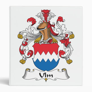 Ulm Family Crest Vinyl Binder