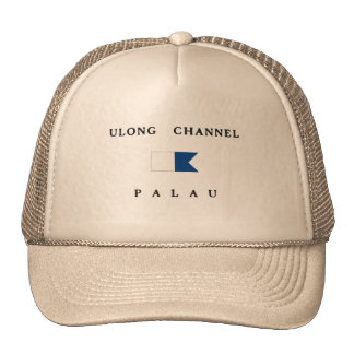 Ulong Channel Palau Alpha Dive Flag Trucker Hat