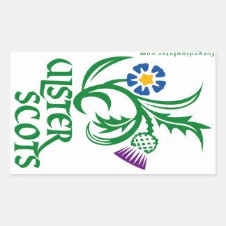 Ulster-Scots flax & thistle design Sticker