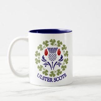 Ulster-Scots thistle & shamrock mug